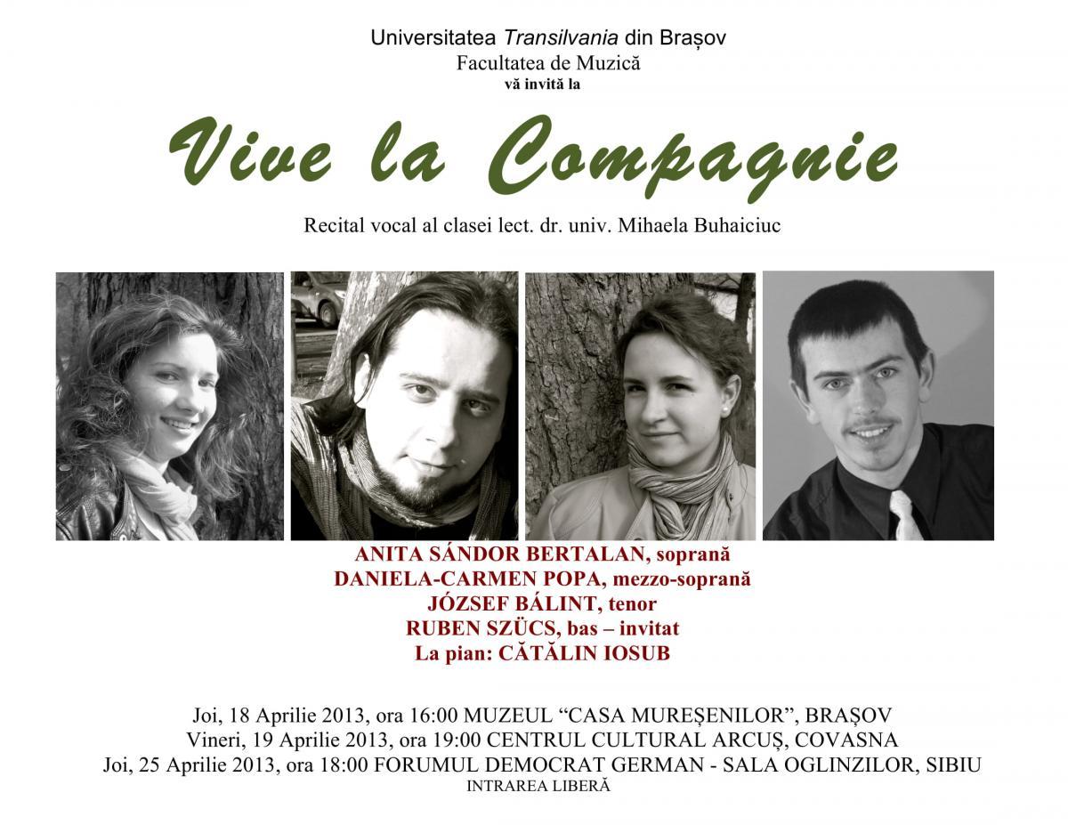Vive La Compagnie Poster aprilie  2013-1